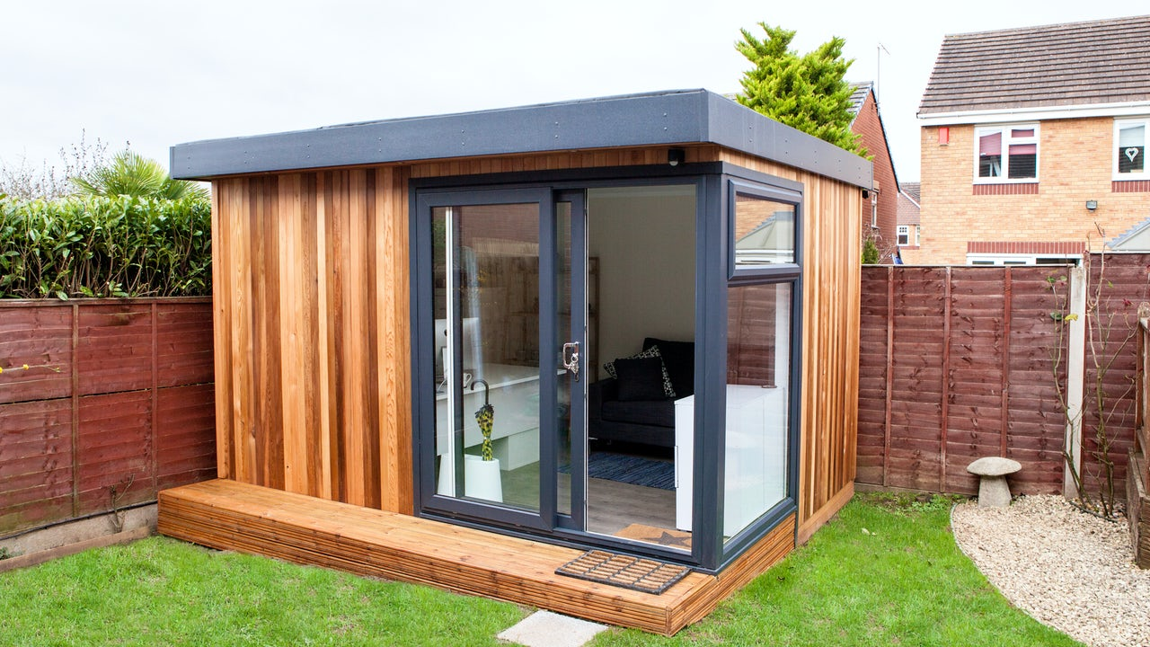 Cabin master 39 s gallery explore our work for Cedar garden office